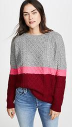 3 Color Aran Cashmere Sweater