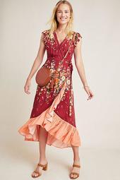 Farm Rio for Anthropologie Tesorina Wrap Dress