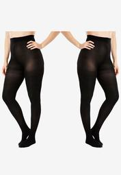 2-Pack Semi-Sheer Smoothing Tights by Comfort Choice®