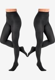 2-Pack Opaque Tights by Comfort Choice®