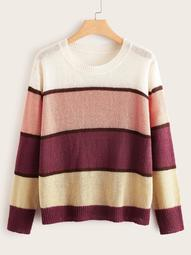Plus Cut And Sew Panel Sweater