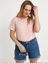 Embroidered Solid Tee