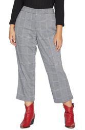 The Runway Plaid Pull-On Crop Pants