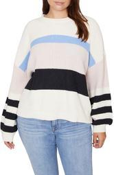 Playful Stripe Shaker Stitch Sweater