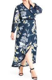 Elle High/Low Wrap Dress