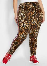 Striped Leopard Scuba Pant