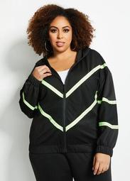 Mesh Striped Scuba Jacket