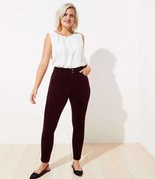 LOFT Plus High Waist Corduroy Skinny Pants