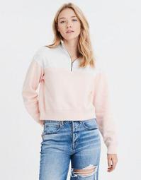 AE Fleece Color Block Half Zip Sweatshirt