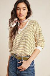 Hannah Striped Scoop Neck Top