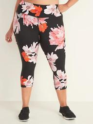 High-Waisted Elevate Plus-Size Cropped Leggings