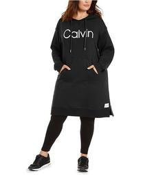 Plus Size Graphic Hoodie Dress