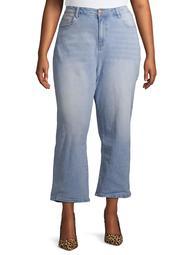 Rock & Stone Women's Plus Size Stretch High Waist Mom Jeans
