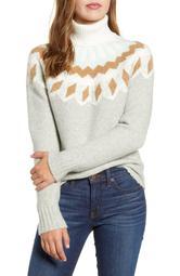 Fair Isle Turtleneck Sweater in Supersoft Yarn