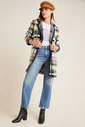 Shanley Plaid Wool Sweater Coat