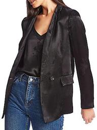Relaxed-Fit Button Blazer