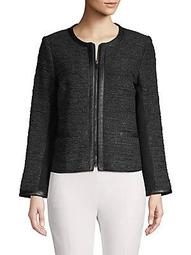 Edith Tweed Zip-Front Jacket