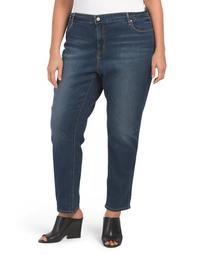 Plus Mid Rise Slim Emily Jeans