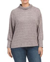 Plus Cowl Neck Pullover Sweater