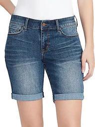 Slim-Leg Bermuda Shorts