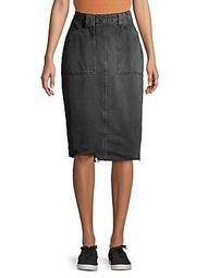 Elisa Denim Pencil Skirt