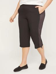 Relaxed Capri With Polka Dot Inset