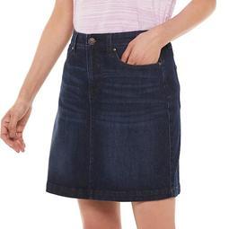 Women's Croft & Barrow® Classic Extra Comfort Jean Skort
