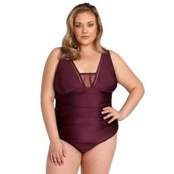 Plus Size LYSA Mesh Inset One-Piece Swimsuit