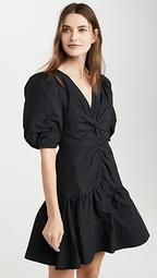 Short Sleeve Tafetta Dress