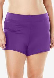 Wide-Band Swim Short with Built-In Brief