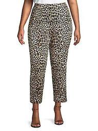 Cheetah-Print Tapered Pants
