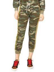 Camouflage Cotton-Blend Jogger Pants