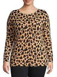 Plus Plus Leopard-Print Cashmere Sweater
