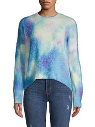 Tie-Dyed High-Low Sweater