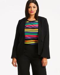 Fluted Sleeve Edge to Edge Blazer