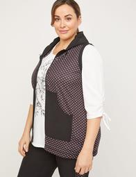 Polka Dot Hooded Tunic Vest