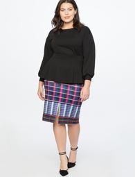 Column Skirt With Slit