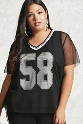 Plus Size Athletic Jersey