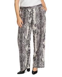 Demure Snakeskin-Print Pants