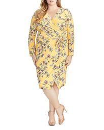 Darcie Floral-Print Faux-Wrap Dress