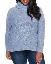 Metallic Chenille Turtleneck Sweater