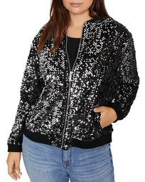 Disco Sequined Bomber Jacket