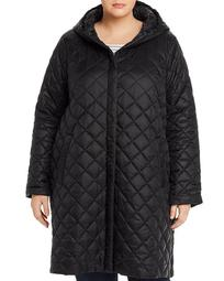 Diamond-Quilted Coat