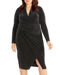 Bret Metallic Ruched Dress