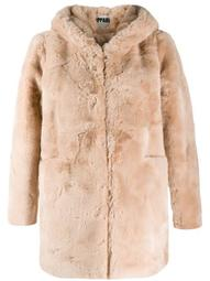 Marie hooded faux-fur coat