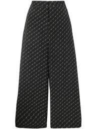logo wide leg trousers