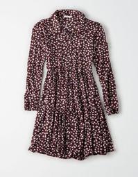 AE Denim Long Sleeve Babydoll Dress