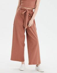 AE High-Waisted Ribbed Tie Front Culotte