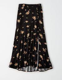 AE High-Waisted Button Up Maxi Skirt