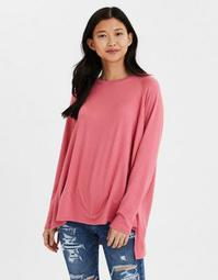 AE Soft Plush Long Sleeve Crew Neck T-Shirt